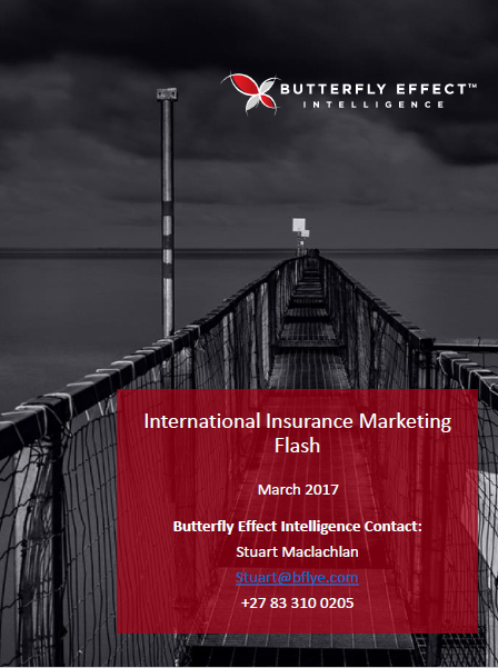 Butterfly Effect Intellignece article - Interesting Insurance Initiatives from around the Globe – March 2017