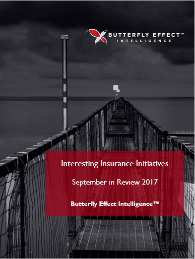 Butterfly Effect Intellignece article - Interesting Insurance Initiatives from around the Globe – September 2017
